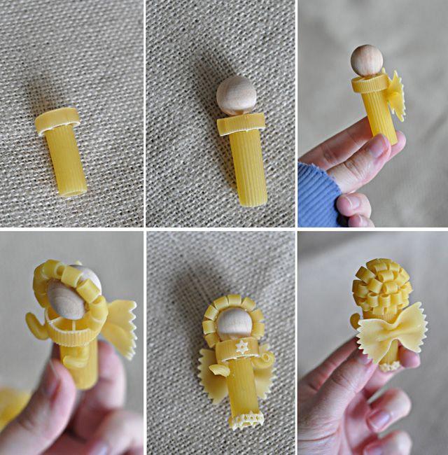 anjelici z cestovin 3 ornaments noodles
