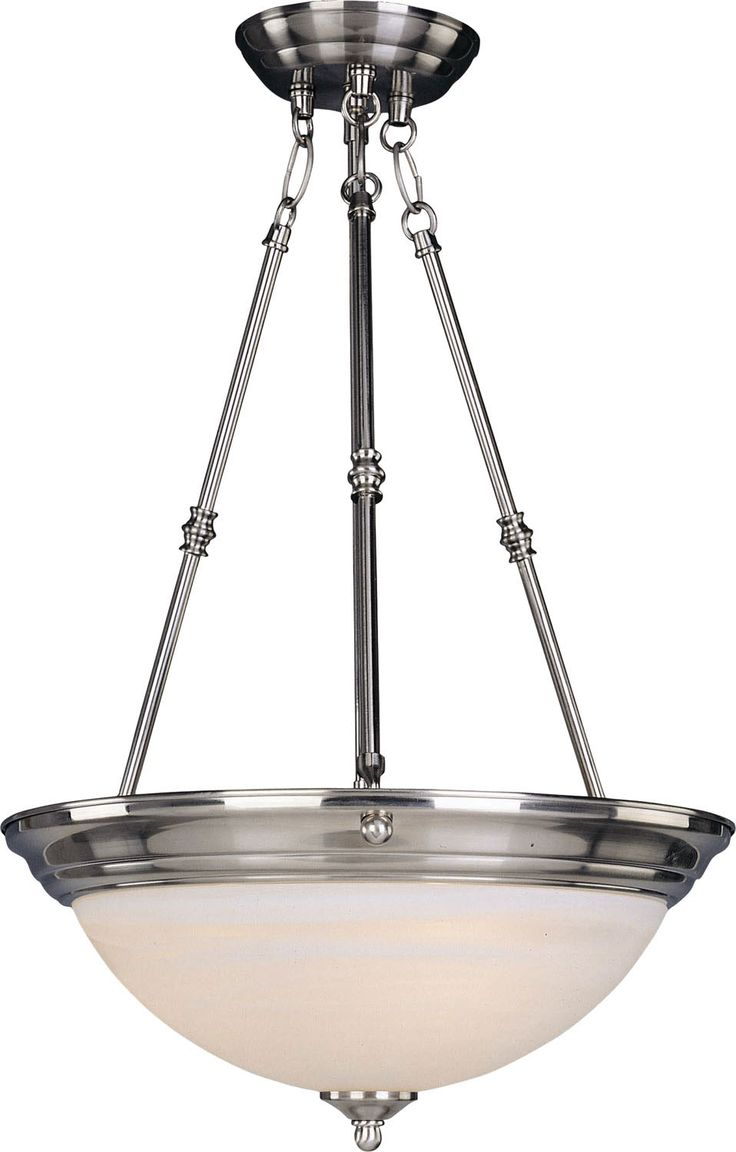 three light invert bowl pendant