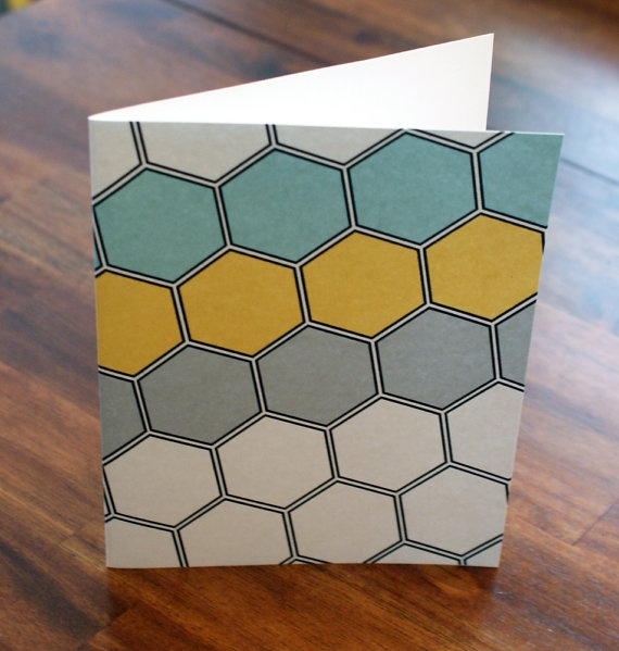 hexagonQuilt, Fresh Colors, Cards Papertrey Ink, Greeting Cards, Blue Yellow, Cardspapertrey Ink, Gray, Hexagons Cards, Honeycombs