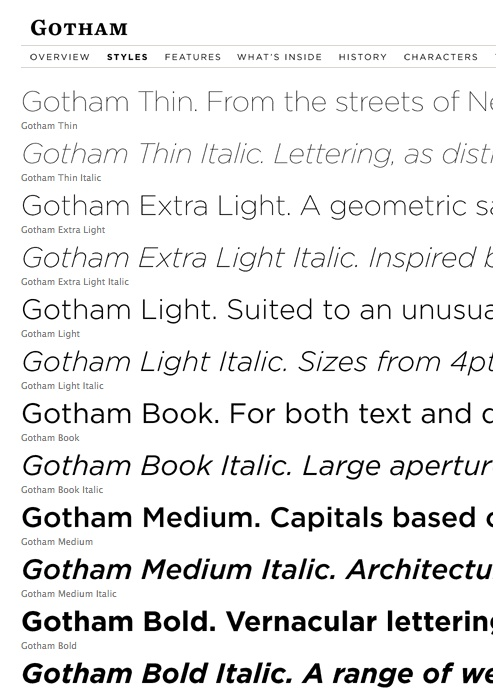 Hoefler  Frere-Jones - Gotham (typeface)