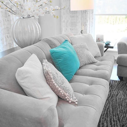 Colour Ideas : Grey Turquoise Sofa Living Room Design Ideas, Pictures,  Remodel, And Decor Part 91