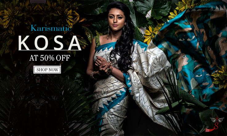 The classic Kosa saree comes in natural shades like pale gold, fawn, cream, honey, orange and so on