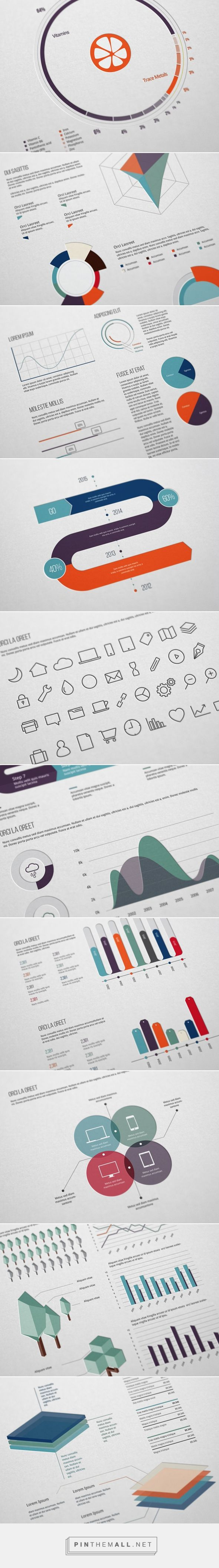 Ultimate Infographics Pack on Behance - created via Wassim Awadallah