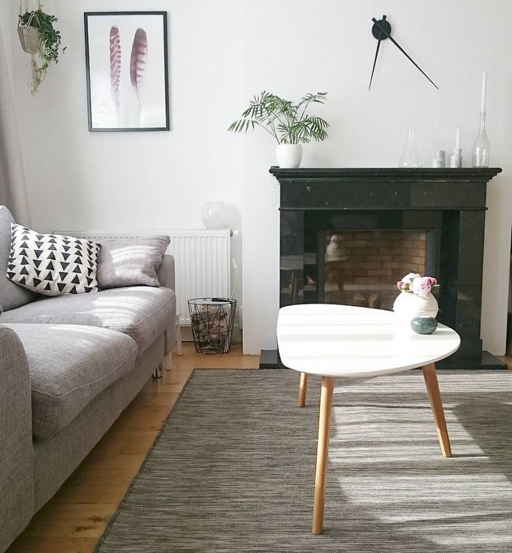 Scandinavian Living Inspired Design Coffee Table With Oak Legs And White  Tabletop.