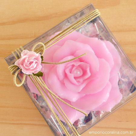 rosa damascena, lembrancinhas - Empório Coralina
