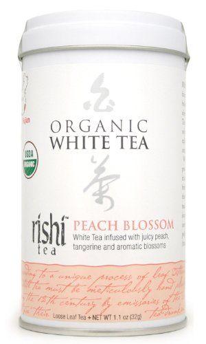 Rishi Tea Organic White Peach Blossom Loose Tea, 1.13-Ounce Box (Pack of 3) - http://goodvibeorganics.com/rishi-tea-organic-white-peach-blossom-loose-tea-1-13-ounce-box-pack-of-3/