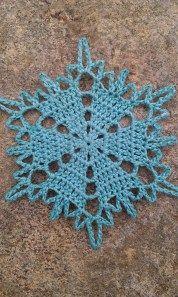 polar bear snowflake crochet pattern