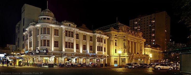 Quarteirão Paulista - Choperia Pinguim, Teatro D. Pedro II e Palace Hotel, Ribeirão Preto, Brazil