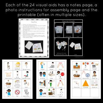 Special Education and Autism Visual Aids: Classroom Behavi