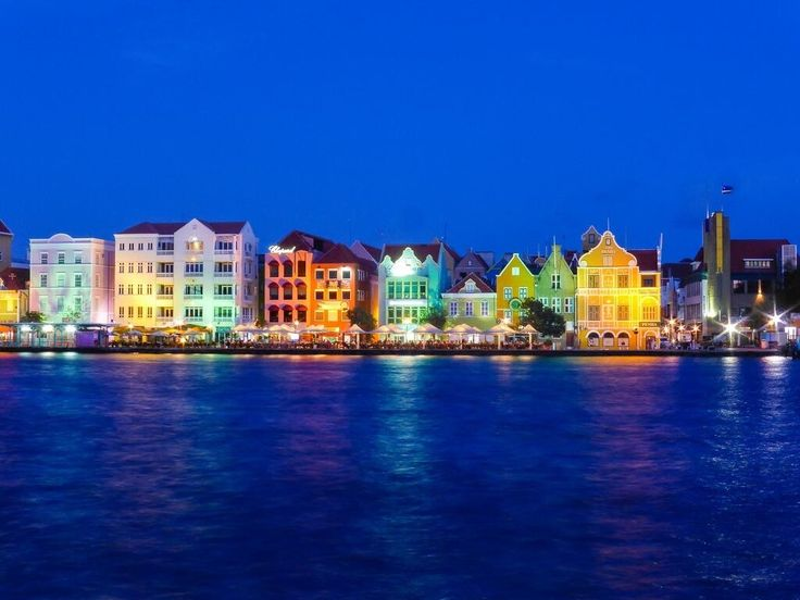 Curacao at night. Beautiful when the cruise ship pull out of harbor at night.