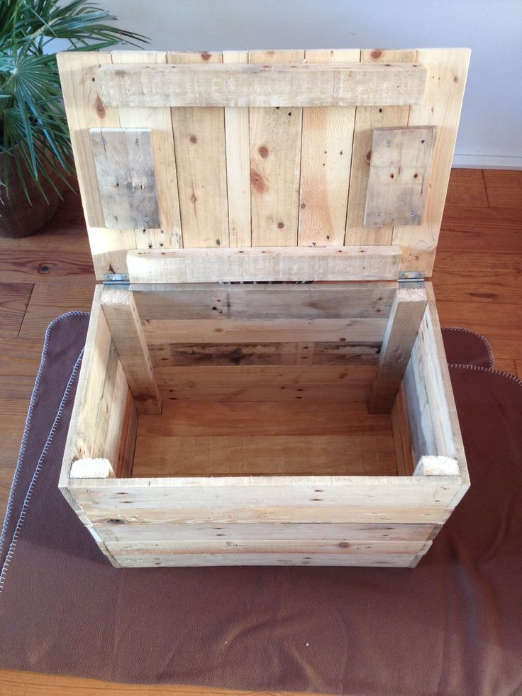 chest of pallets diy pallets pinterest maillots de bain palette et bois. Black Bedroom Furniture Sets. Home Design Ideas