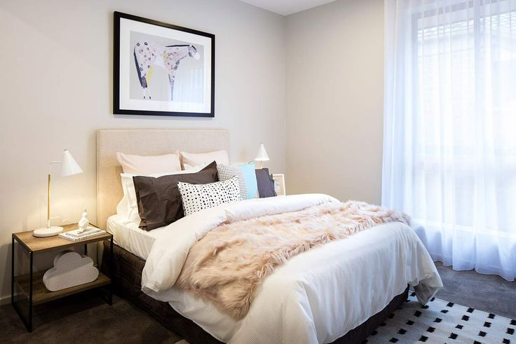This light-filled bedroom is both spacious and airy. #weeksbuildinggroup #newhome #homedesign