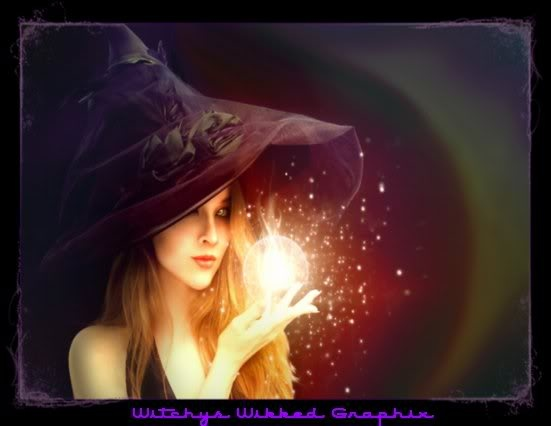 Magickal Witch With Crystal Ball Plum Quot Wicked Quot Witches