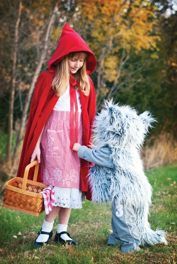 Red Riding Hood and the big bad wolf