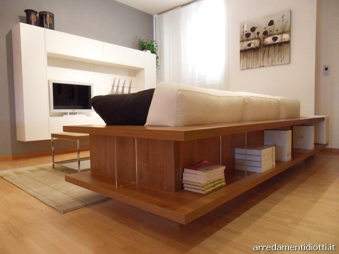 Divano Zen con libreria posteriore - DIOTTI A Arredamenti