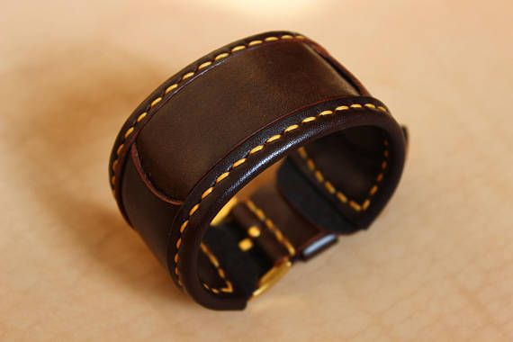 Leather strap for watches 24 mm leather watchband leather #leather #watchband