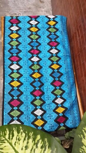The blue  color reminds me of the beauty of Senggigi beach. Songket from NTB.