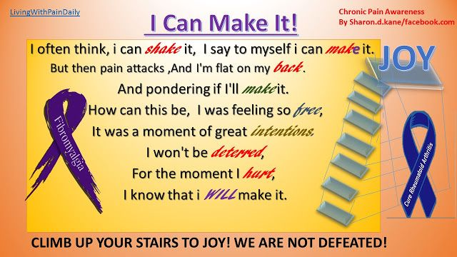 Living With Pain Daily: I CAN MAKE IT