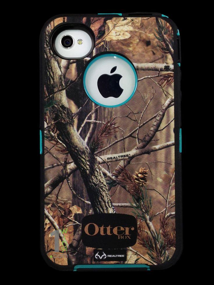 Custom Otterbox Defender Series Case For IPhone 4S AP Camo Teal 5999 Via