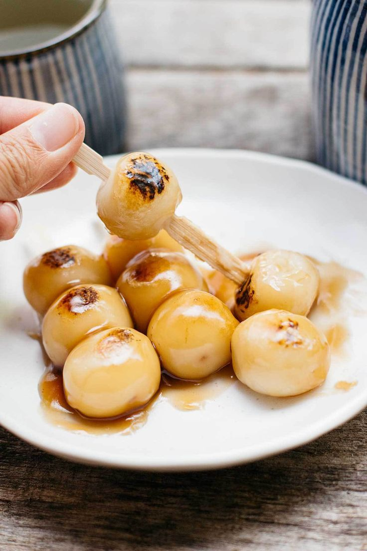 Mitarashi Dango - they are so delicious, I made them once but without tofu
