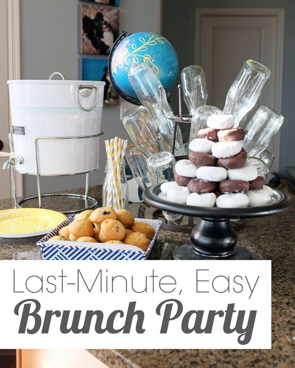 How to host a beautiful last minute party!