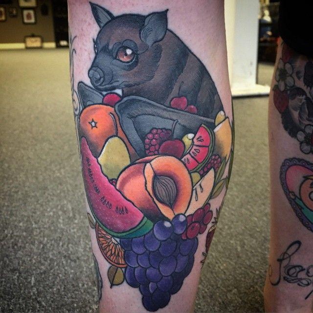 Fruit bat tattoo Not for me, but still neat