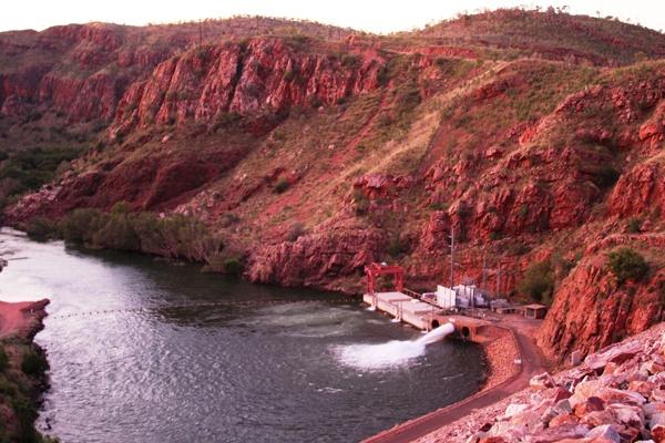 The Ord hydro plant helping power the Argyle Diamond Mine in Western Australia. #renewable #energy #WA