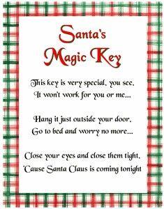 Santa's Magic Key - poem                                                       …