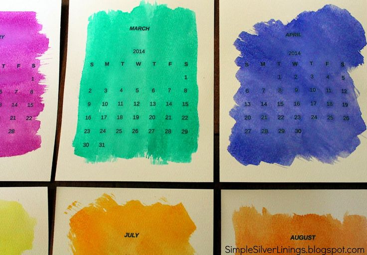 Another great DIY gift idea - a watercolour calender. Gorgeous! www.homeology.co.za