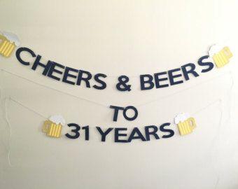 50th Birthday 40th Birthday Beer Party by WhiteRabbitsDesign