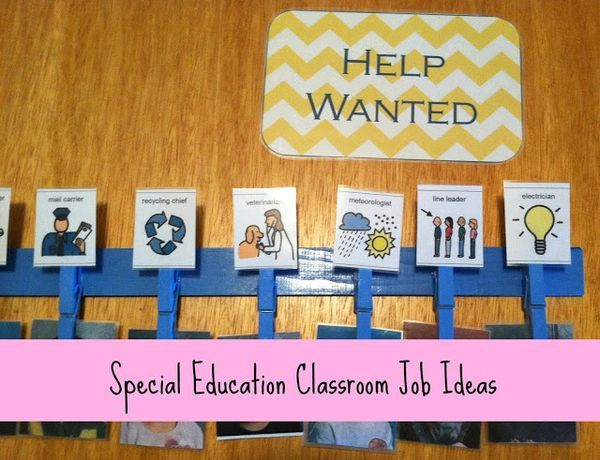 Classroom Job Ideas Elementary ~ Special education classroom jobs idea job ideas for