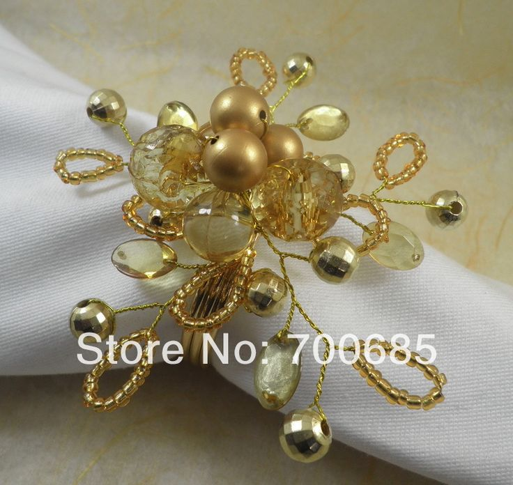 crystal  beaded  napkin ring, napkin holder,
