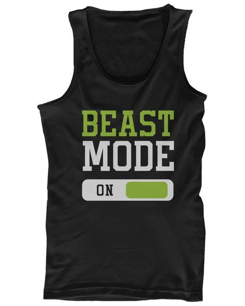 This fun workout tank top is perfect for fitness fans who instantly switch over to beast mode once they step foot onto the court or into the gym! This black tank is made out of a lightweight cotton ma
