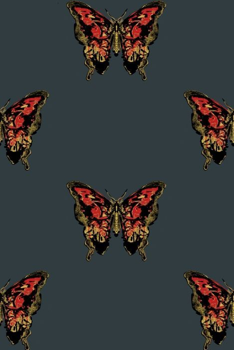 Timorous Beasties Wallcoverings - Butterfly Hand-Print