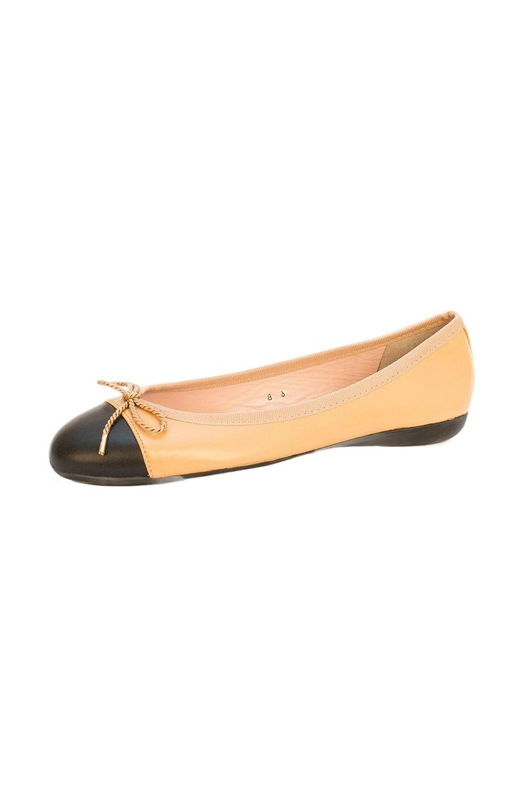 Cap toe ballet flat with lavender infused rubber sole by Paul Mayer Shoes.   Beige Ballet Flat by Paul Mayer. Shoes - Flats - Ballet Pennsylvania