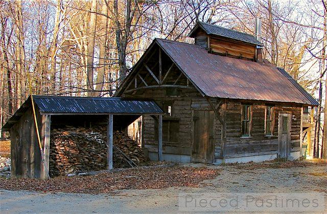 Pieced Pastimes: Sugar Shack in Tamworth, New Hampshire