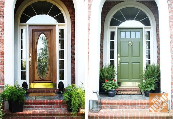 Check out this front door before and after that gave this home a brand new look! Click through to get tips from Emily A. Clark on how to make your front door makeover an easy and fun project.