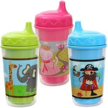 Baby Toddler Sippy Cups Snap And Twist With Spill Proof Lids 3 Pks Lime Blue Pink -- Want to know more, click on the image.Note:It is affiliate link to Amazon.