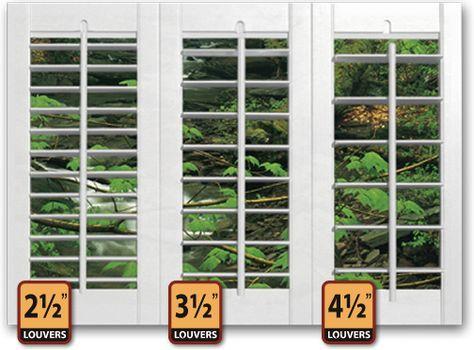 indoor plantation shutters | Interior Plantation Shutter Louver Sizes | Home Improvement Orange ...