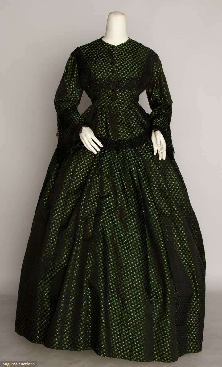 3 4 sleeve lace long dress 19th