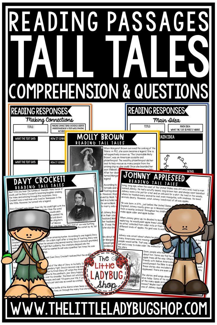 Digital Tall Tales Nonfiction Reading Comprehension Passages 3rd 4th Grade Reading Comprehension Reading Comprehension Passages Comprehension Passage [ 1104 x 736 Pixel ]