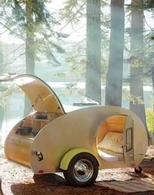 This is so cute and cool. I want it! Custom Teardrop Trailer