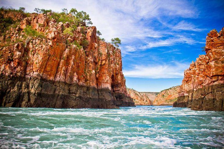 'Massive tidal movement through the Horizontal Falls'