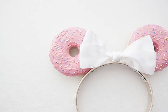 Realistic Homer Donut Mouse Ears with Sprinkles Headband