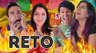 ¿CUÁNTO PICANTE AGUANTAN LOS ESPAÑOLES? | EXPCASEROS Y RETO POLINESIO #YOUTUBEPROWEEK - YouTube