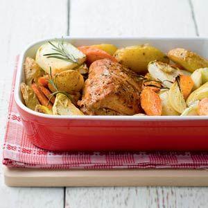 Recept - Beenham met geroosterde groenten - Allerhande