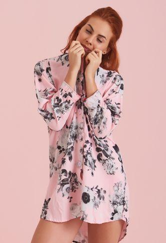 Pijamas : Camisón Flores