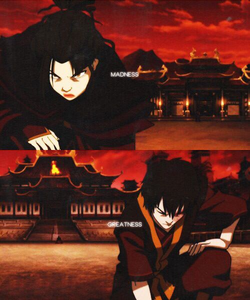 "Azula v Zuko: ""Madness and greatness were two sides of the same coin and every time a new Targaryen was born, the gods would toss the coin in the air and the world would hold its breath to see how it would land."" A Song of Ice and Fire / Avatar: The Last Airbender"