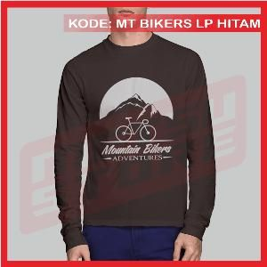 Kaos Sepeda Mountain Bikers Adventure Kaos Distro Hitam Lengan Panjang Metsu Store