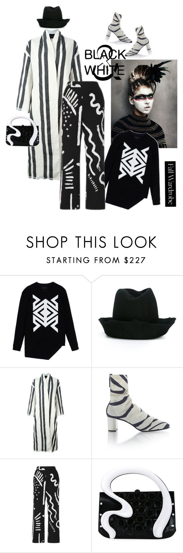 """""""Black and White"""" by naturalbornstyler ❤ liked on Polyvore featuring D.GNAK by KANG.D, REINHARD PLANK, Erika Cavallini Semi-Couture, Emilio Pucci, Isa Arfen and Gabriella Ingram"""